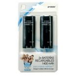 2 Baterias para Wiimote 1400 Mha Negro [Wii]