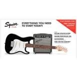 Pack Fender Squier Stratocaster Negro [Pack Guitarra Eléctrica]