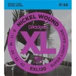 D'addario EXL120 (9-42) Guitarra Eléctrica [Juego de Cuerdas]