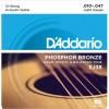 D'addario EJ38 (10-47) Guitarra Acústica [Juego de 12 Cuerdas]