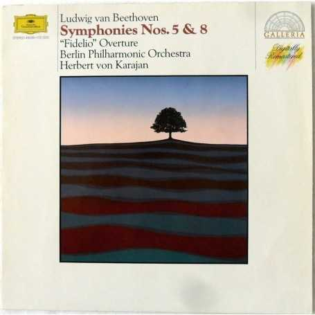 "Ludwig van Beethoven / Herbert von Karajan / Berliner Philharmoniker - Symphonies Nos. 5 & 8 / Ouvertüre ""Fidelio"" [Vinilo]"