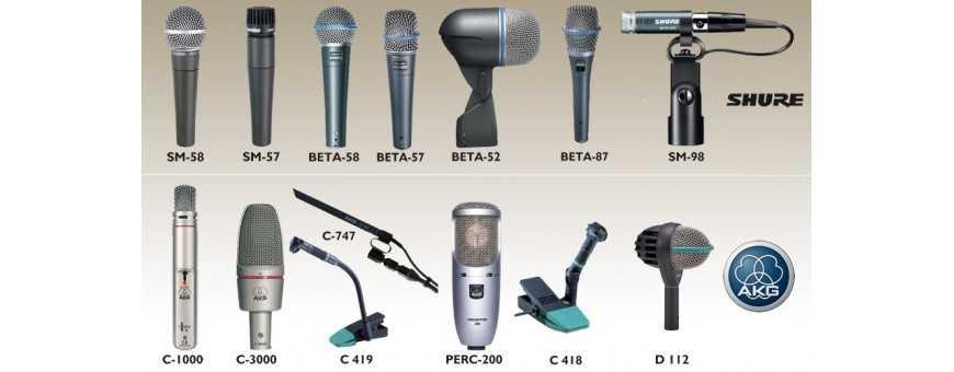 Comprar Micrófonos Shure, AKG, sE...